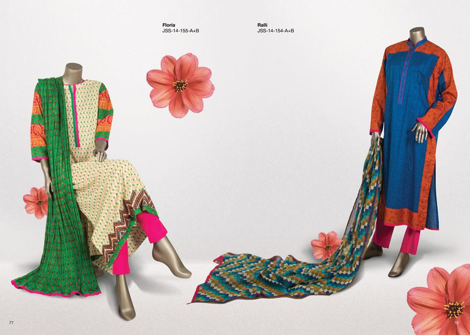 Junaid Jamshed Summer Lawn Trends 2014 Volume 2 Collection Pakistan