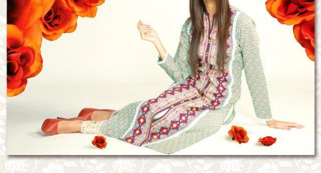 bonanza lawn Kurti 2014 with Price 2,180 Shalwar Kameez