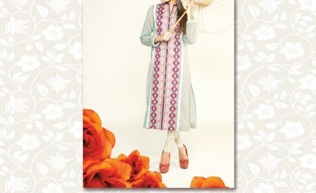 bonanza lawn Kurti 2014 with Price 2,180