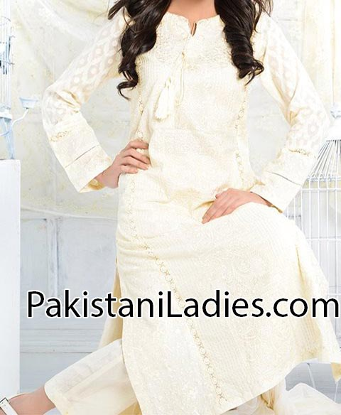 Eid-Collection-2014 Shalwar Kameez Long Shirt Design