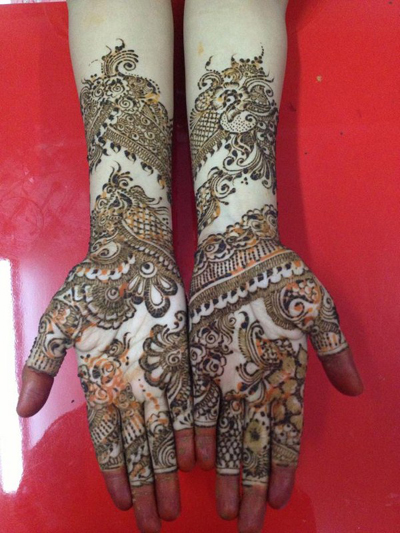 Facebook bridal mehndi designs for full hands 2014 Pakistani Indian Arabic Henna