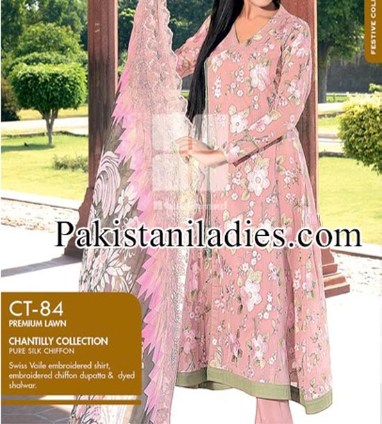 Gul Ahmed Eid Collection 2014 with Price from Magazine for Women and Girls Shalwar Kameez Long