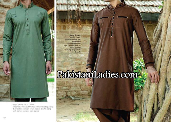 JJ. Junaid Jamshed Eid kurta Designs collection for Men & Boys 2014 Summer Shalwar Kameez