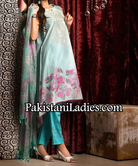 Khaadi-Lawn---Eid-Collection-2014-for-women-and-Girls