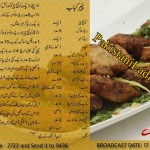 Ramzan Recipe PANEER KABAB in Urdu English Handi Zubaida Tariq