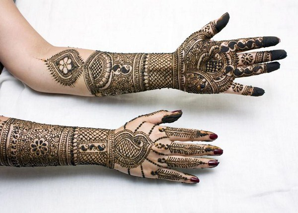 bridal mehndi designs for full hands 2014 Indian Pakistani Arabic