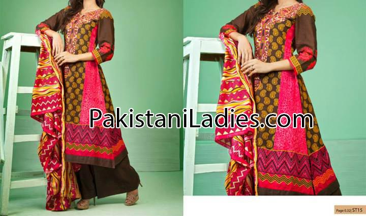 latest fashion trends in pakistan 2014 summer for Women & Girls Long Shalwar Kameez Trouser