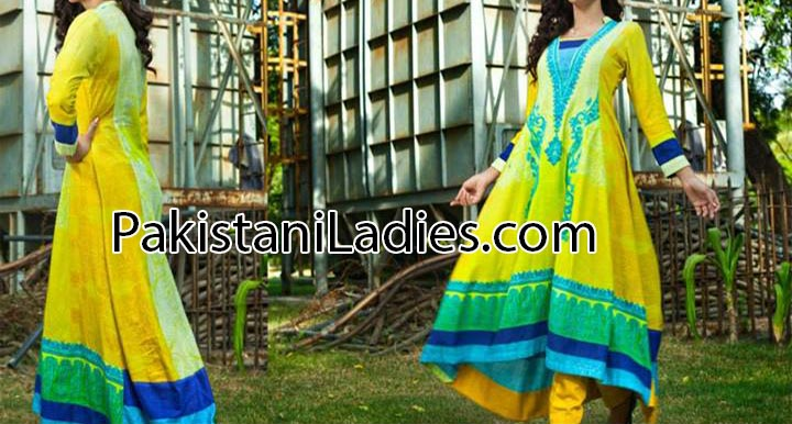latest fashion trends in pakistan 2014 summer for Women & Girls Long Shalwar Kameez Trousers