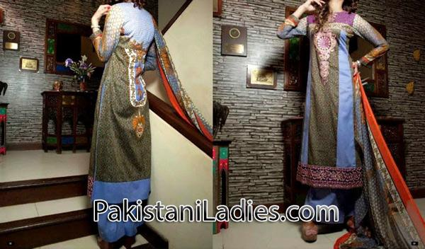 trousers and long kameez design 2014 for women & girls Fashion Trend