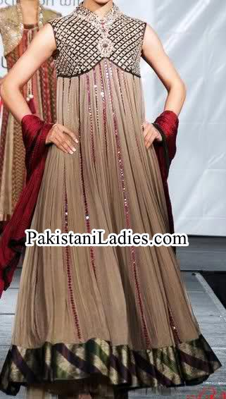 Princess dresses long frock design 2014 2015 for girls in pakistan