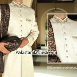 Junaid Jamshed Wedding Sherwani Designs Men Groom 2014 2015