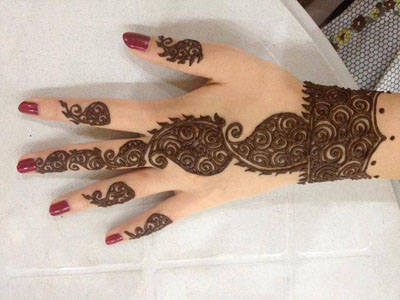Latest Henna-Mehndi-Designs-New-Book-For-2014 for Hands Simple Bridal Facebook Images Pic