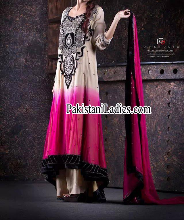 New Beautiful Simple and Fancy Boutique Style Tail Frocks Designs Collection 2014 2015 Pakistan India Bangladesh