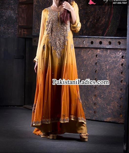 New Beautiful Simple and Fancy Boutique Style Tail Frocks Designs Collection 2014 2015 Pakistan India