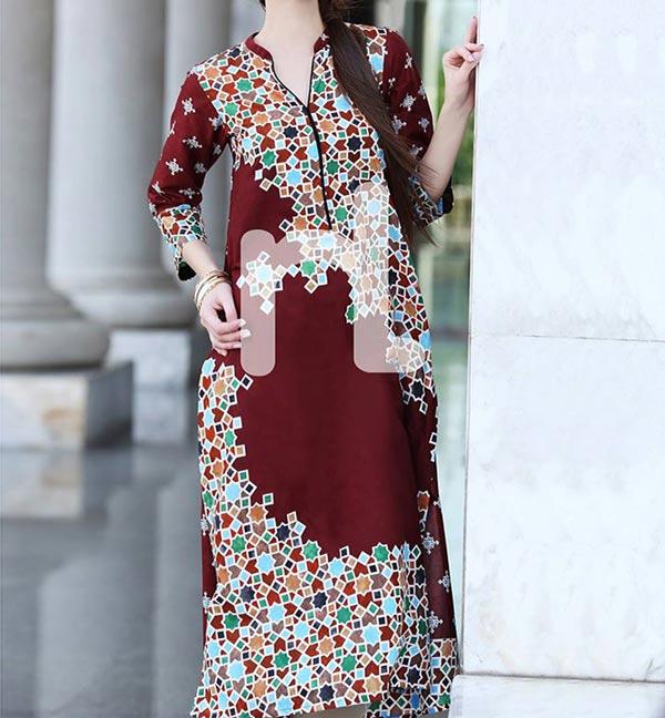 Nishat Linen Eid Summer Designs Collection 2014 for Women Girls Long Shirt