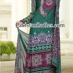 Dawood Lawn Long Shirt Kameez with Choori Pajama Fashion 2014