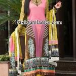 Dawood Lawn Collection 2014, Long Shalwar Kameez Fashion