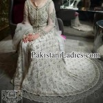 Bridal Wedding Dresses Walima White Frock in Pakistan 2017