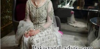 Bridal-Wedding-Dresses-Walima-White-Frock-2014-2015-Pakistan-India-Bangladesh-Open-Shirt