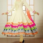 Latest Stylish Anarkali Frocks with Churidar 2014-2015 Fashion