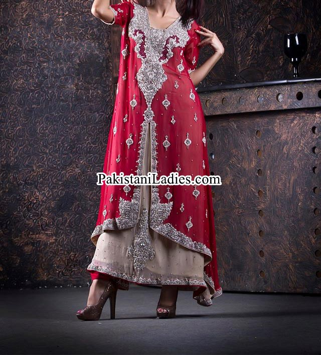 Open Shirt Designs With Sharara For Bridal Wedding & Party