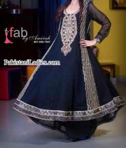 Fancy-Latest-Fashion-of-Black-umbrella-frock-Design-2014-2015-women-dresses-Party-Wedding-Pakistan-India-Bangladesh