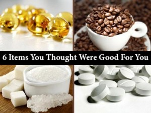 Health Tips Six items You Thought Were Good For You Caffeine Grapefruit juice Multivitamins Vitamin E
