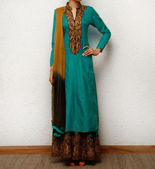 Latest Fashion Trends 2014 2015 in Pakistan and India Long Shirts with Palazzo and Frock with Plazo palazzo-with-kameez