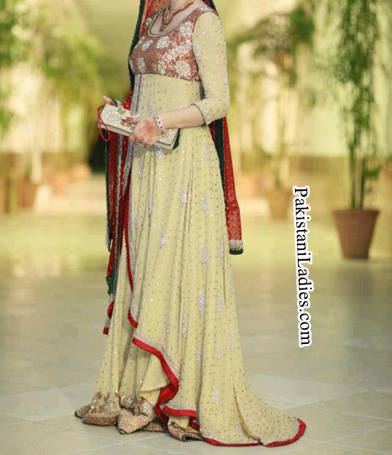 Fashion Trends Of Long Tail Frock Gown Bridal Dresses 2014 2015 For Walima In Pakistan India pinterest Facebook