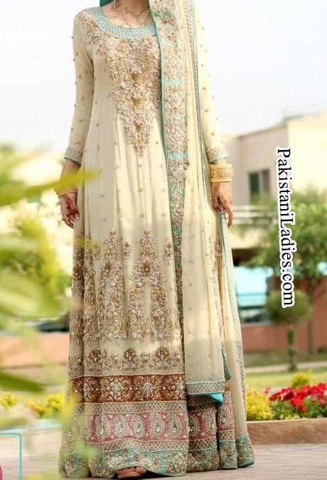 Fashion Trends Of Long Tail Frock Gown Bridal Dresses 2014 2015 For Walima In Pakistan India pinterest