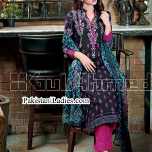 Gul Ahmed Fashion Winter Dresses Collection 2014 2015 volume 1 for Women Girls Long Shirts