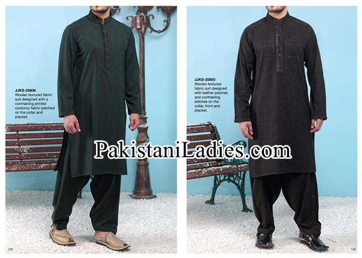 Junaid-Jamshed-Stylish-New-Arrivals-Winter-Kurta-Pajama,-Shalwar-Kameez-Designs-Collection-2014-2015-Gents