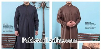 Junaid-Jamshed-Stylish-New-Arrivals-Winter-Kurta-Pajama,-Shalwar-Kameez-Designs-Collection-2014-2015-Prices