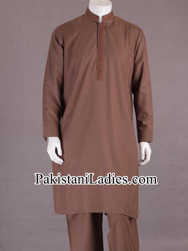 Junaid-Jamshed-Stylish-New-Arrivals-Winter-Kurta-Pajama,-Shalwar-Kameez-Designs-Collection-2014-2015-Prices-PKR-4,485