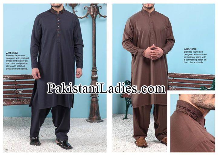 Junaid-Jamshed-Stylish-New-Arrivals-Winter-Kurta-Pajama,-Shalwar-Kameez-Designs-Collection-2014-2015-Prices
