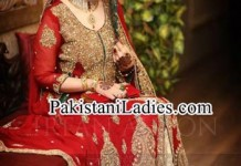 Latest-bridal-lehenga-in-red-and-green-combination-Designs-2015-irfan-ahson-photography-bridal-wedding-Dresses-2014-Pictures-Pakistan-India