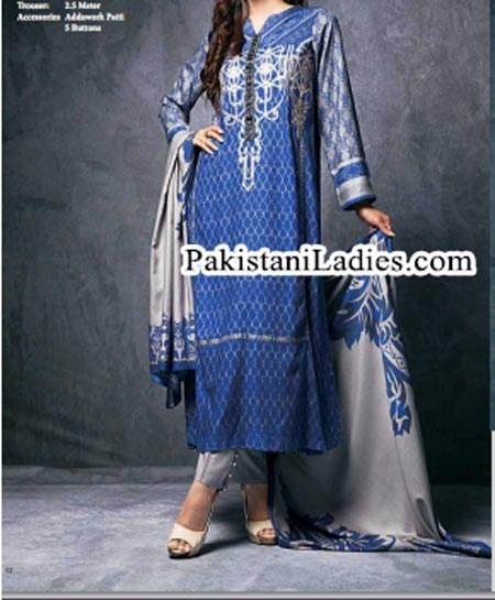 Long Shirt Shalwar Kameez Fashion Ittehad Winter Collection 2014 2015 for Women and Girls Facebook