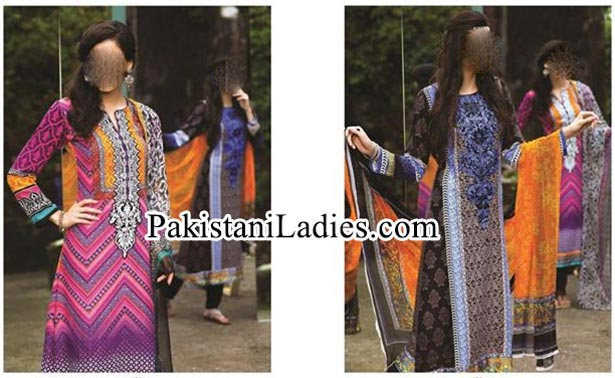 MARIA.B. Indian Pashmina Winter Dresses Salwar Kameez Designs Collection 2014 2015 for Women and Girls Fashion