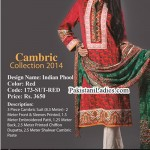 Mausummery Cambric Winter Collection 2014 2015 with Prices