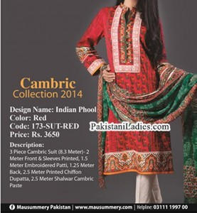 Mausummery-Winter-Cambric-Collection-2014-2015-with-Price-for-Women-Girls-Shalwar-Kameez-Designs