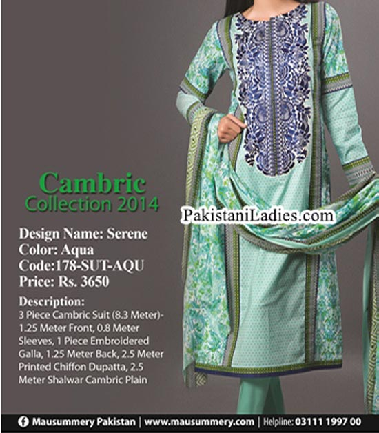 Mausummery-Winter-Cambric-Collection-2014-2015-with-Price-for-Women-Girls-Shalwar-Kameez