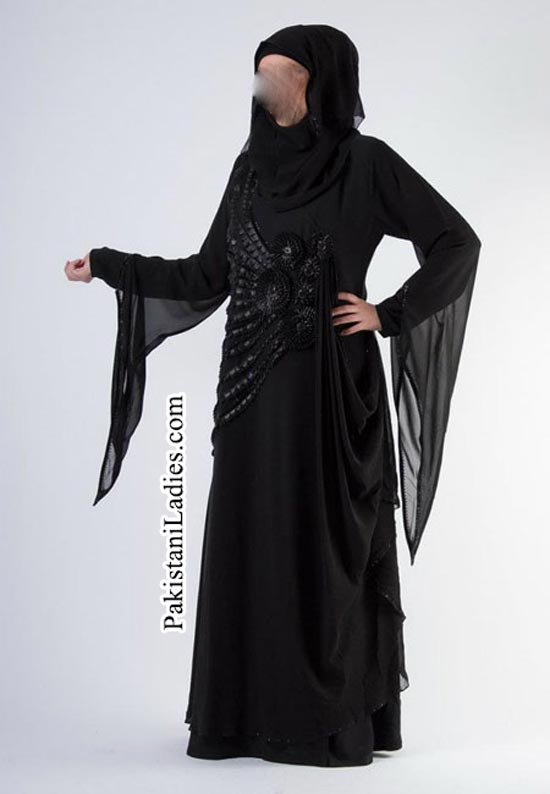 Facebook Pic: Fashion of Stylish Abaya Burka Design 2014 2015 in Pakistan