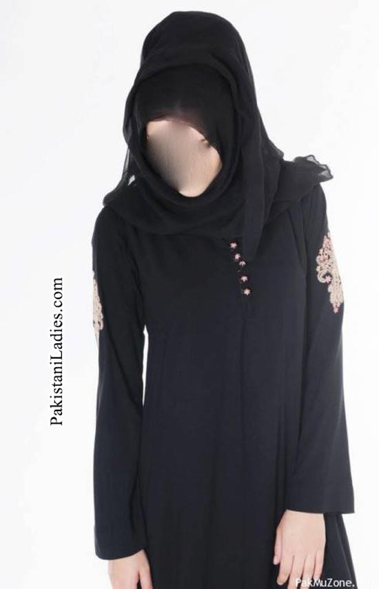Facebook Stylish Abaya Burka Design 2014 2015 in Pakistan