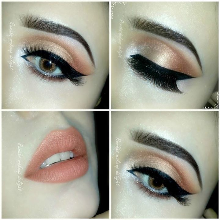 Dark eyes makeup