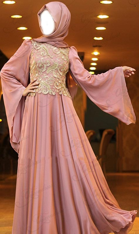2015 Latest Fashion Arabic Style Muslim Maxi Dress for Wedding  Kaftan Jalabiya Design Flare Long Sleeve Bridal UK