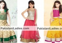 Beautiful Dress Suit Little Girls Kids Sharara Lehenga Choli 2015 Indian Designs
