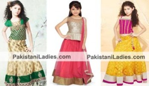 Beautiful Dress Suit Little Girls Kids Sharara Lehenga Choli 2015 Indian Designs