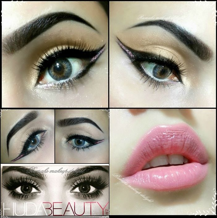 Beautiful Dubai Egyptian Arabic Bridal Smokey Eyes Makeup Tips Pictures 2015 2014 Facebook  Pinterest Lipstik Pink