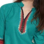 Simple Neck (Gala) Designs 2017 for Ladies Suits Catalogue