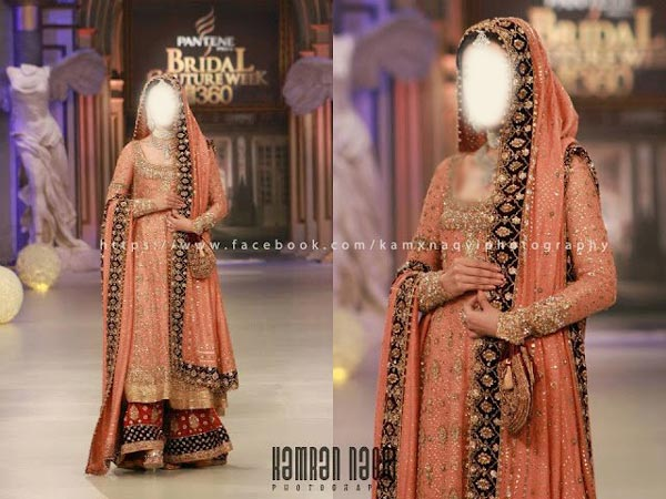 Beautiful Sharara and Gharara Bridal Wedding Dress Designs 2015 Red Pakistan India